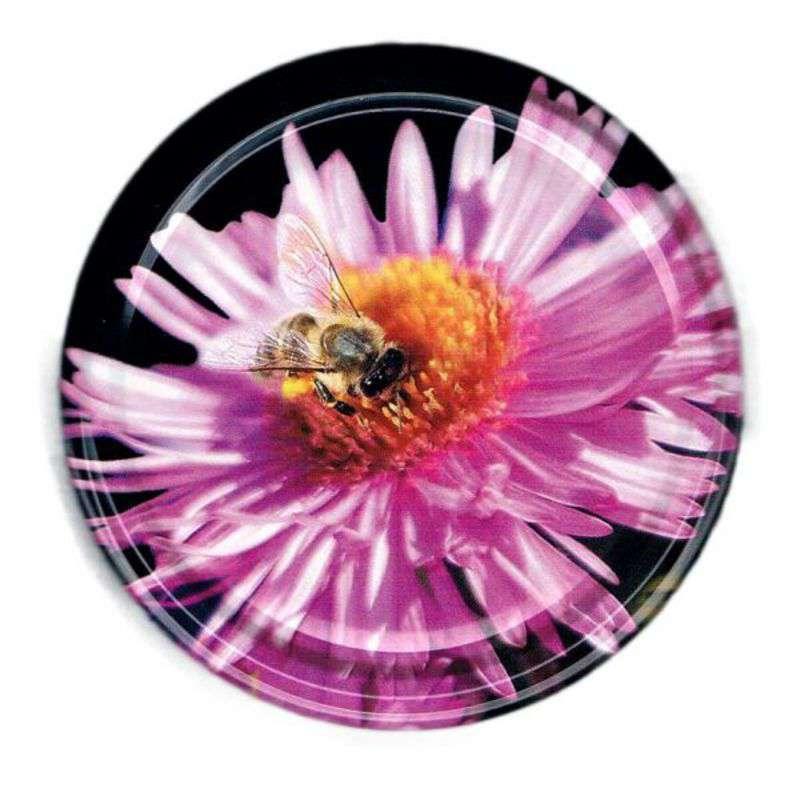Twist off deckel gro fi 82 mm 6 haken rosa biene for Twist off deckel 82